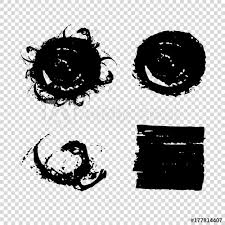 Set Of Grunge Vector Shapes Dirty Artistic Design Elements Vector