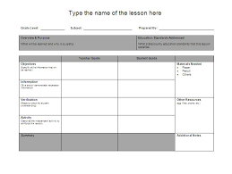 downloadable lesson plan templates printable lesson plan word documents templates