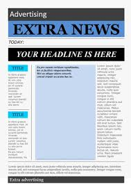 School Newspaper Layout Template Free Newspaper Template Pack For Word Perfect For School