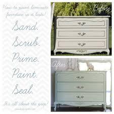 painting laminate furnitureMint Dresser Redo