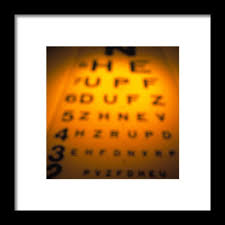 Blurry Eye Test Chart Blurred View Of A Snellen Eye Test Chart 1 Framed Print