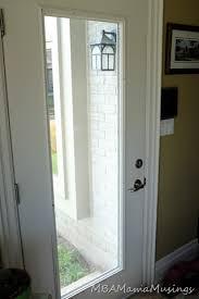 glass insert in an exterior door