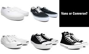 converse vs vans. i need a standard pair of casual shoes that would pretty much match with everything. and so i\u0027ve narrowed down my choices to these choices, converse vs vans 0