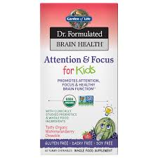 dr formulated attention focus for kids watermelon berry 60 chewable tablets
