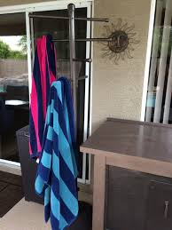 Pool Towel Drying Rack Enchanting Easy DIY PVC Poolside Towel Rack StuffAndyMakes