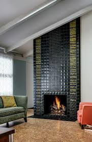floor to ceiling fireplace designed with motawi tiles photo courtesy of motawi tileworks maconochie photography