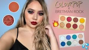 bretman rock x colourpop first impressions swatches makeupbytreenz