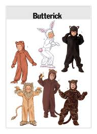 Halloween Costume Patterns Amazing B48 Children'sGirls'Boys' Animal Costumes Sewing Pattern