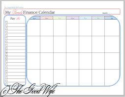 The Good Wife New Budget Worksheet Finance Calendar And