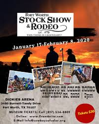 Fort Worth Stockyards Rodeo Seating Chart Cowboys Of Color Rodeo Fort Worth Tickets Mon Jan 20
