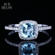 Женское <b>кольцо с голубым</b> топазом HELON 0.83ct, 14 к, <b>белое</b> ...