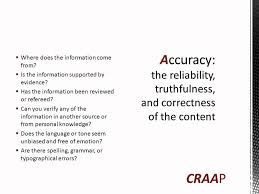 Craap Test How To Use The Craap Test To Evaluate Websites Information