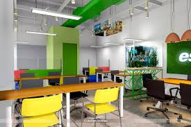 Interior Design For Office Gorgeous View Of Customer Relationship Officer Workstations Design Bureau