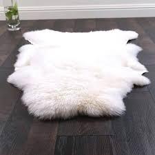 faux sheep skin rug fake sheepskin silver