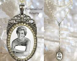 personalized rosary pearls custom with your photo handmade medal jewelry pendant memorial