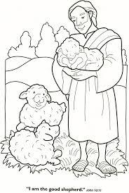 De Goede Herder Bijbel Bijbel Kleurplaten Zondagschool Kleurplaten
