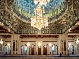 chandelier inside prayer hall image fotolibra