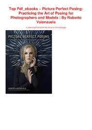 Roberto Valenzuela Picture Perfect Lighting Pdf Top Pdf_ebooks Picture Perfect Posing Practicing The Art