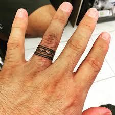 Tribal Wedding Ring Tattoos