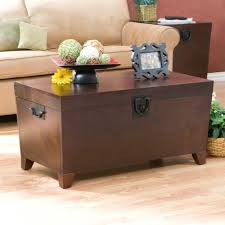 room vintage chest coffee table:  fantastic living room trunks storage ideas brown lacquered wood trunk table beige microfiber arms sofa tan