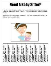 Babysitting Templates Flyers Baby Sitter Flyers Magdalene Project Org