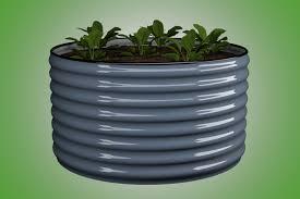 round garden bed corrugated garden beds slimline