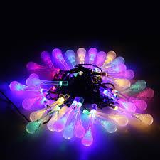 solar outdoor string lights 30 led water drop lights garden lights decoration lights for