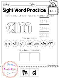 FREE Sight Word Activities (Primer)   Teaching RichaRichi Products ...