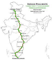 Indian Railway Route Chart Himsagar Express Wikipedia