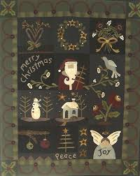 Best 25+ Wool applique quilts ideas on Pinterest | Wool applique ... & Primitive Folk Art Wool Applique Quilt Pattern by PrimFolkArtShop, $33.00 Adamdwight.com