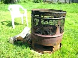 diy metal drum fire pit pits gorgeous 3 and cabin steel for diy metal drum fire pit