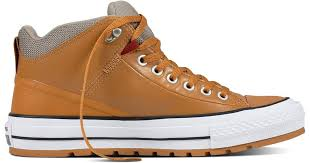 converse chuck taylor all star street boot leather in brown for men lyst