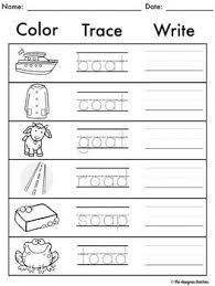 Ruled lines, short vowel sounds, consonant digraphs, and words to copy. Oa Oe Ow Worksheets Worksheets Word Work Worksheets Phonics Worksheets Free Phonics Instruction