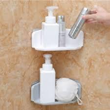 Plastic Corner Shower Shelves Plastic Suction Cup Bathroom Kitchen Corner Storage Organizer 56