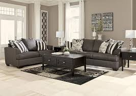 Dimensional Furniture Outlet Levon Charcoal Sofa & Loveseat