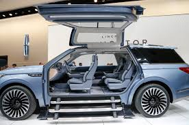 2018 lincoln suv. unique lincoln 2018 lincoln navigator concept on show floor gullwing doors open inside lincoln suv