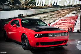 2018 chrysler demon. Wonderful 2018 The Fiat Chrysler Automobiles NV 2018 Dodge Challenger SRT Demon Sports  Vehicle Is Revealed During An Inside Chrysler Demon