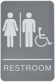 Handicap Bathroom Signs Inspiration Amazon Headline Sign ADA Sign RestroomWheelchair Accessible