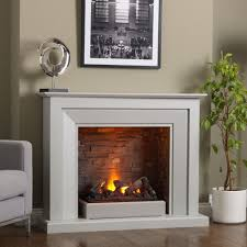 Fireplace: Appealing White Corner Electric Fireplace Featuring White  Fireplace Mantel - Wall Mount Electric Fireplace