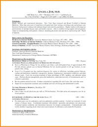 Template Residency Cv Template Medical Format Resume For Students
