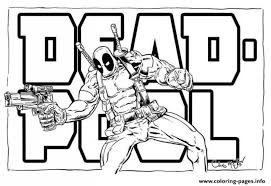 Small Picture Exquisite Deadpool Coloring Pages 27 mosatt