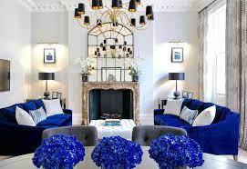 blue living room decor