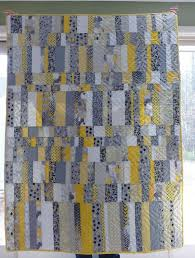 28 best baby quilt - gray and yellow images on Pinterest | Baby ... & Yellow & Gray Lap Quilt or Baby Quilt - Large 45 by 60 modern patchwork, Adamdwight.com