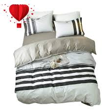 bulutu reversible black and white horizontal stripes twin bedding collection sets grey with 4 corner ties hypoallergenic bedding cover sets for kids s