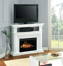 corner unit fireplace stand with gas ventless
