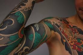 японские маски татуировка традиционные рукава Slava Starkov