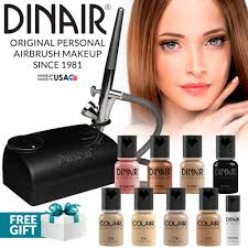 dinair airbrush makeup kit personal professional um shades 4pc foundation colair