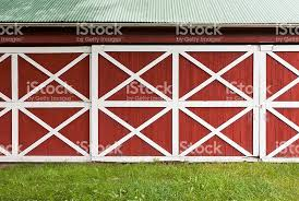 red barn doors. Red Barn Doors With White Trim Royalty-free Stock Photo