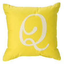 'Q' Typeset Throw Pillow '