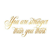 Gold Quotes Simple Stronger Than You Think Quote Gold Faux Foil Quotes Prints By